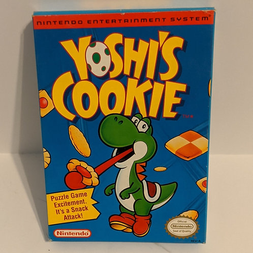 Yoshi's Cookie NES Game Cart w/ Extras by Nintendo (Works)