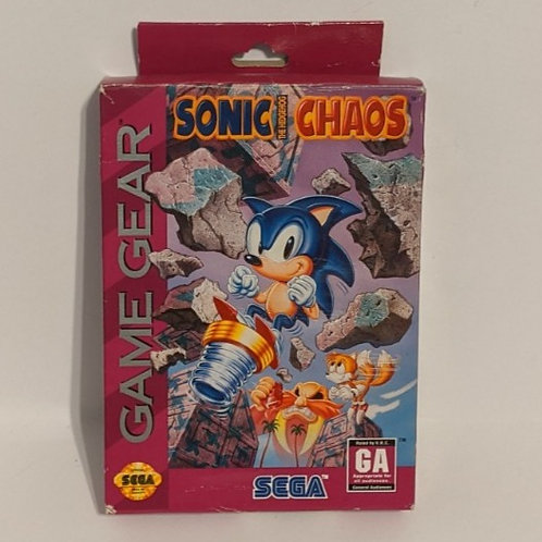 Sonic Chaos Game Gear Cart w/ Extras by SEGA (works)