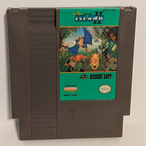 Adventure Island 2 NES Game Cart by Hudson Soft (works)