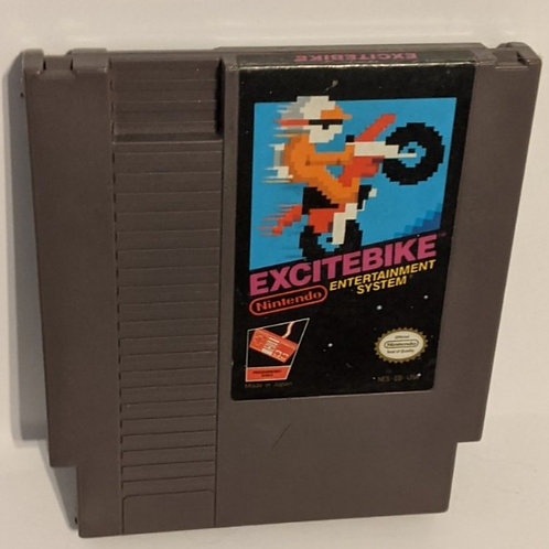 Excitebike NES Game Cart by Nintendo (works)