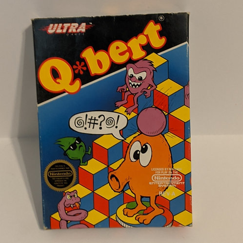 Q-Bert NES Cart by Ultra Games w/ Extras (Works)