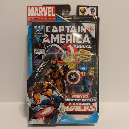 Marvel Universe: Greatest Battles Comic Packs Captain America Wolverine Hasbro