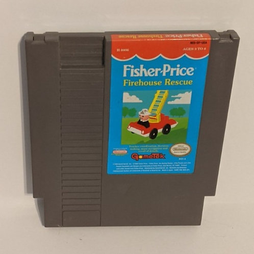 Fisher Price Firehouse Rescue NES Game Cart by Gametek (works)