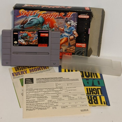 Street Fighter 2 SNES Game Cart w/ Extras by Capcom (works)