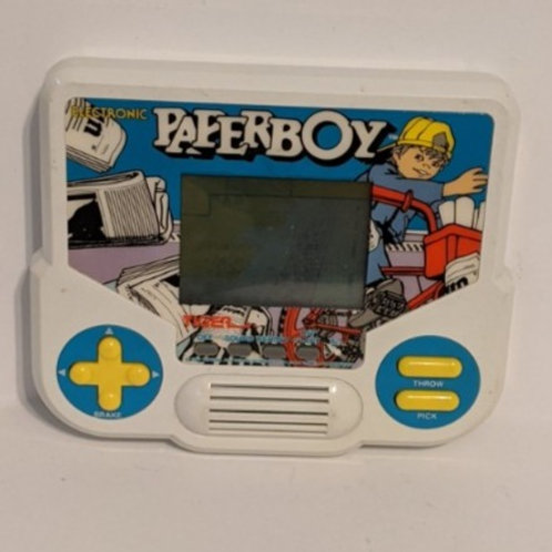 Paperboy Tiger Electronic Handheld LCD Game (works)