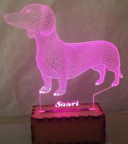 Luminária Abajur Pet Cão Dachshund
