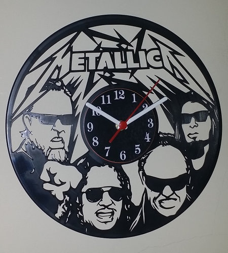 Relógio em disco de Vinil Banda Metallica