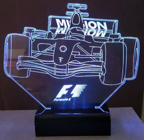 Luminária Led 3D fórmula 1