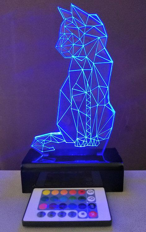 Luminária Abajur LED 3D Gato