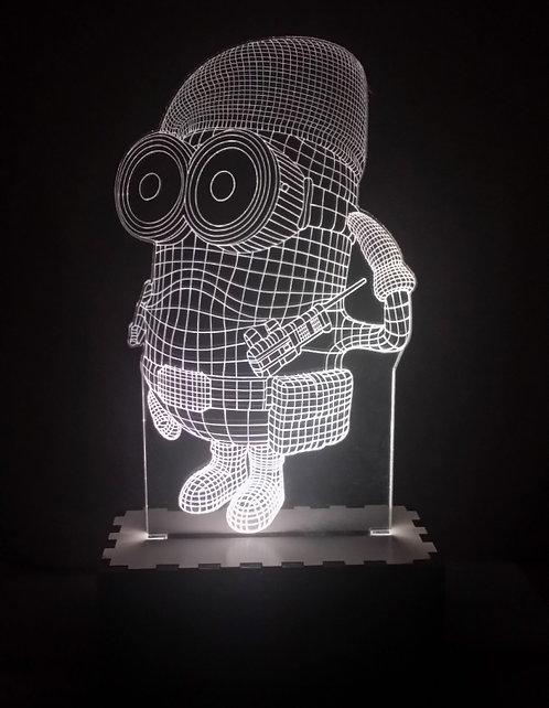 Luminária Abajur Desenho Minions