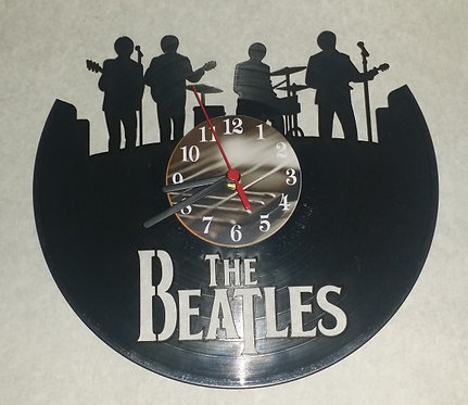 Relógio de parede em disco de vinil Beatles