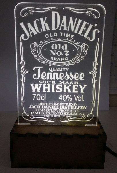 Luminária Abajur Whisky Jack Daniel´s