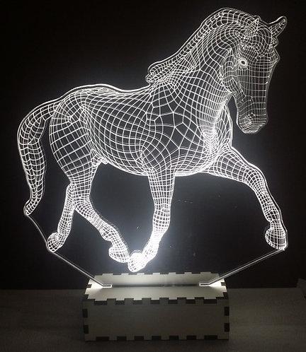 Luminária Abajur Pet Cavalo Manga Larga