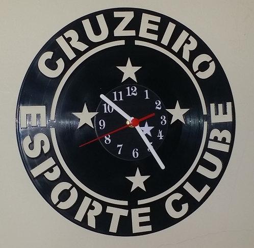 Relógio em disco de vinil Time Cruzeiro