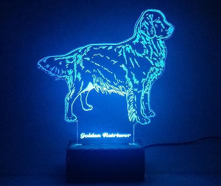 Luminária Abajur Pet Cão Golden Retrivier