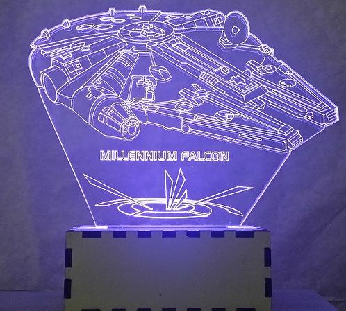 Luminária Abajur Star Wars Millennium Falcon