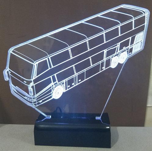 Luminária LED 3D Ônibus