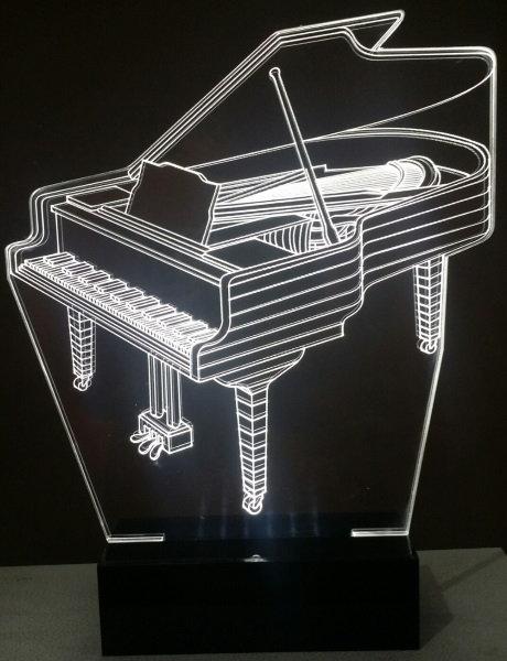 Luminária Abajur Música Piano