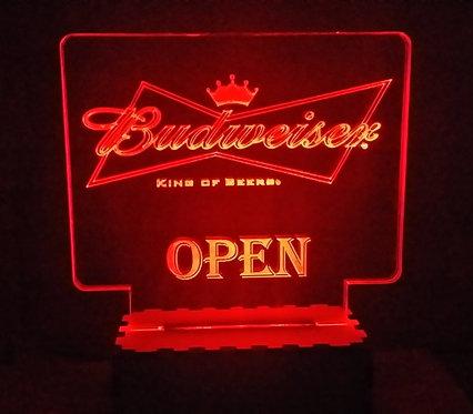 Luminária Abajur Cerveja Budweiser