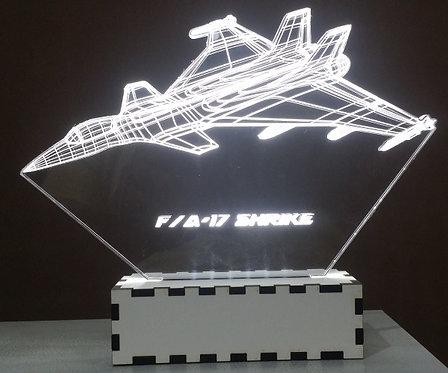 Luminária Abajur Avião caça F-17