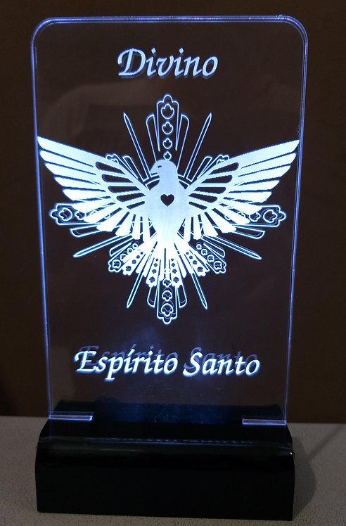 Luminária de mesa Abajur Led Divino Espírito Santo