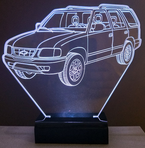 Luminária Led 3D Chevrolet Blazer