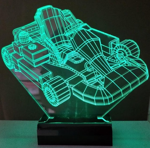 Luminária LED 3D Kart