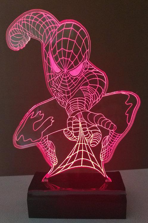 Luminária LED 3D Homem Aranha
