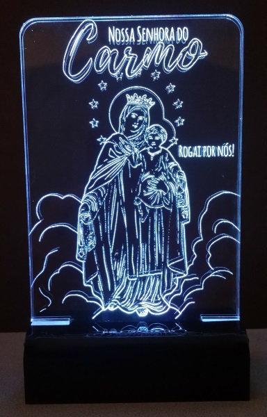 Luminária de mesa Abajur Led Nossa Senhora do Carmo