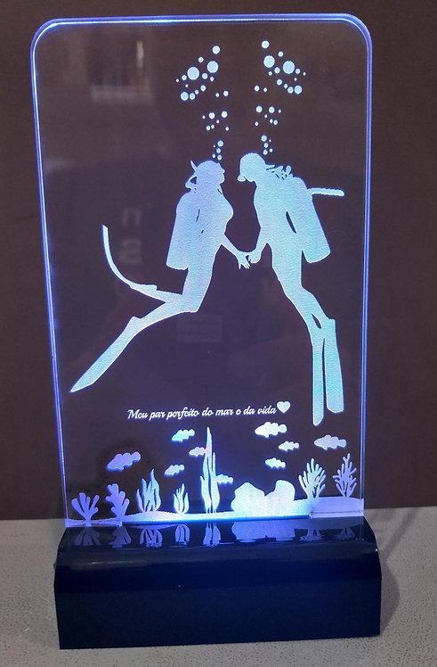 Luminária Led 3D Mergulhador mergulho