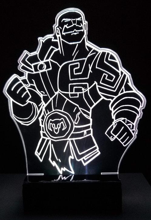 Luminária Led 3D Braum LoL
