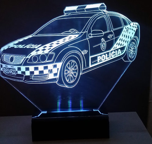 Luminária Abajur 3D Led Polícia