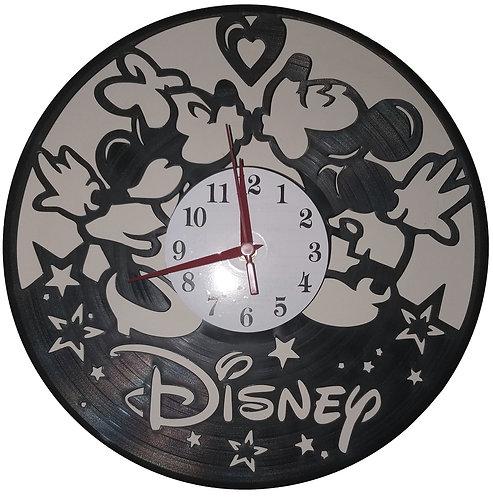 Relógio em disco de vinil