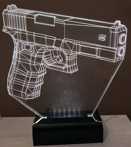 Luminária LED Pistola Glock