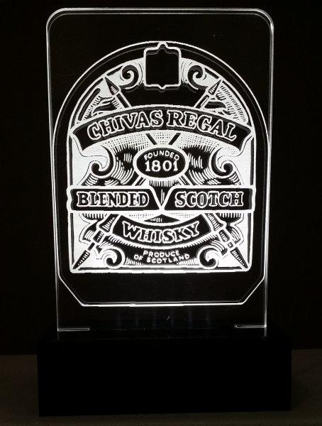 Luminária Abajur Whisky Chivas