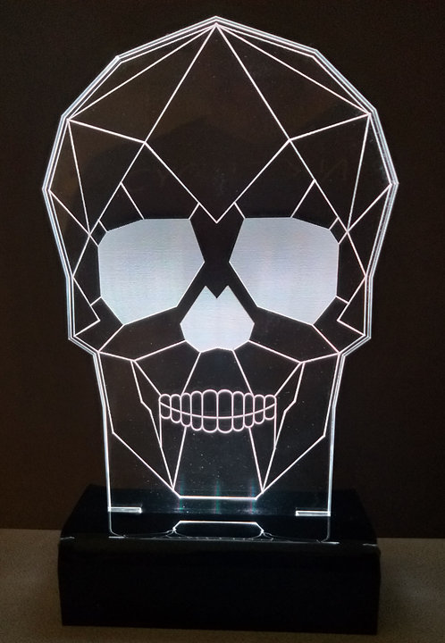 Luminária Led 3D Caveira