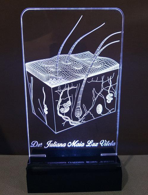 Luminária Led 3D Dermatologia Pele