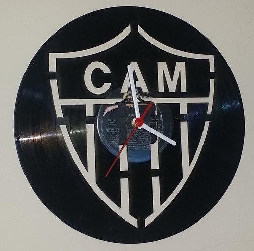 Relógio em disco de vinil Time Atlético Mineiro