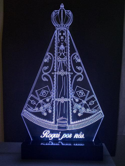 Luminária de mesa em acrílico Led Nossa Senhora Aparecida