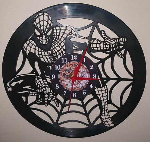 Relógio em disco de vinil Spiderman