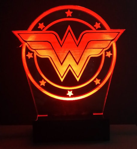Luminária Abajur LED Wonder Woman