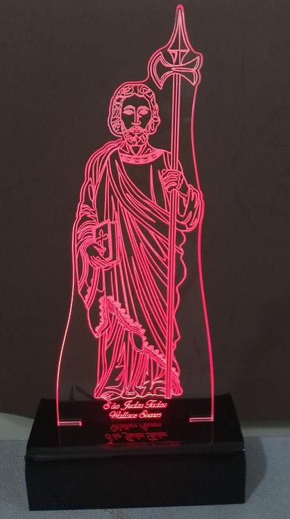 Luminária de mesa Abajur Led São Judas Tadeu