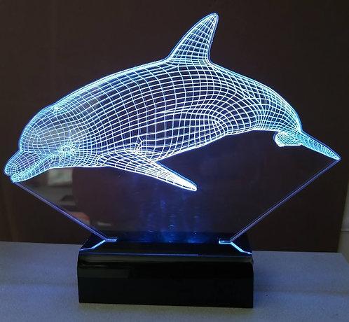 Luminária Led Golfinho 3D