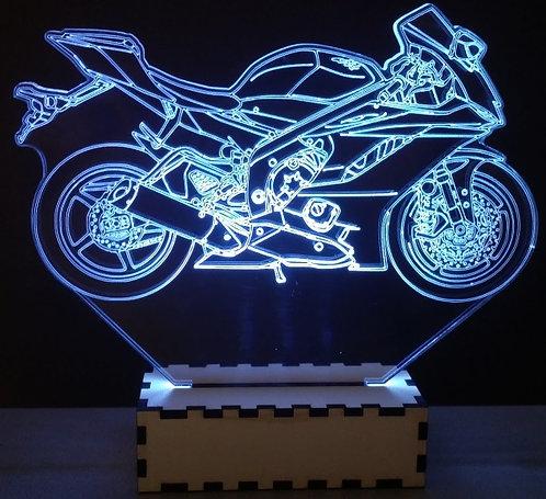 Luminária Abajur Moto Yamaha R6