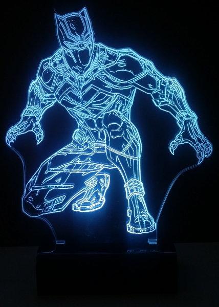 Luminária Abajur LED Black Panther