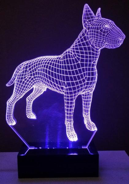Luminária Abajur Pet Cão Bull Terrier