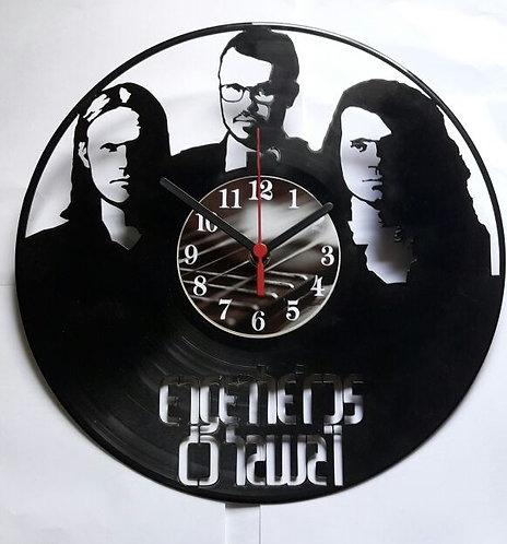 Relógio de parede em disco de vinil Engenheiros do Hawaii