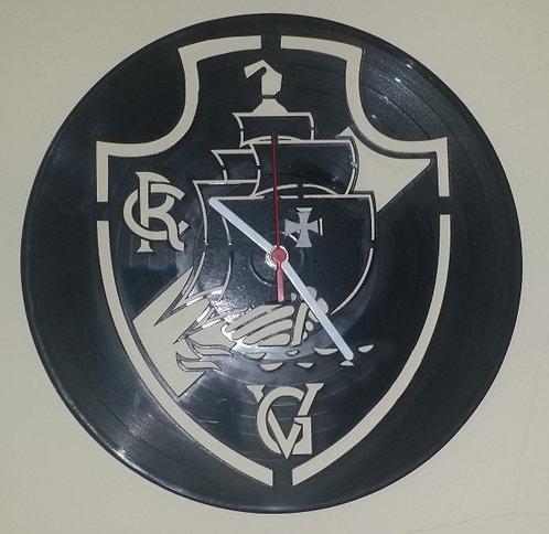 Relógio de parede em disco de vinil Time Vasco