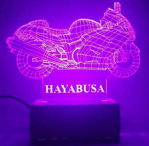 Luminária Abajur Moto Suzuki Hayabusa