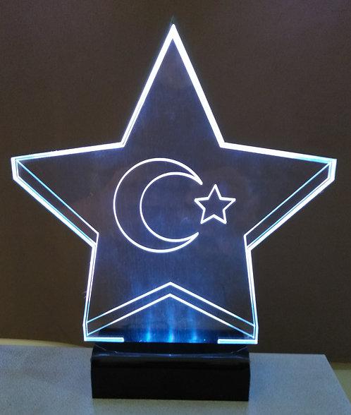 Luminária Led 3D Estrela